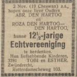 12 1 2 jaar getrouwd Abr den Hartog