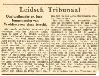 Leidsch Dagblad 8 jan 1947 Levisson
