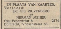 NIW 22 juli 1934 verloving H.S. Meijer